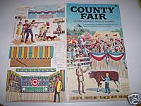 County Fair Punch Out Book With Animated Midway - Unused